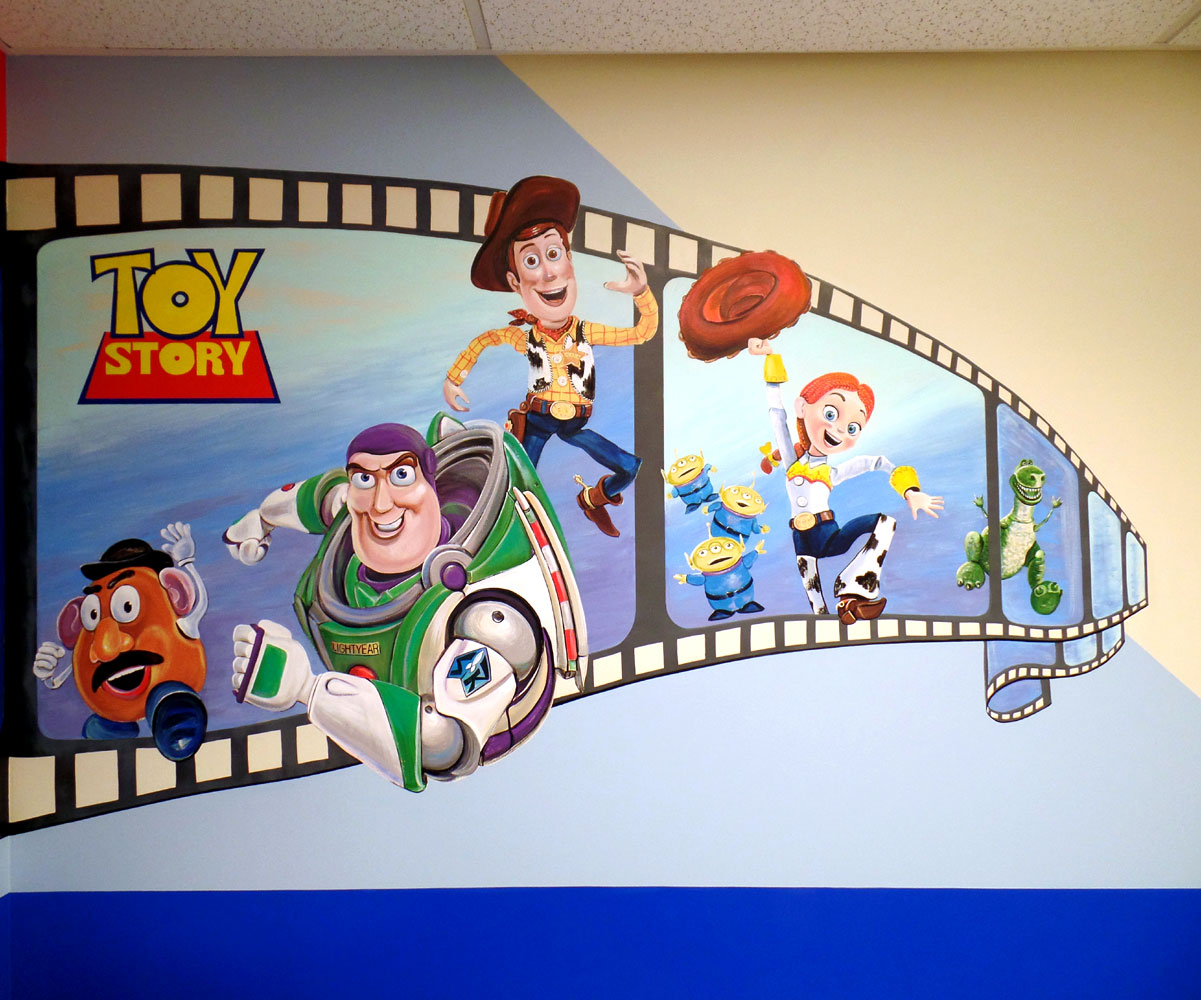 Murals for kids svetlana shorey monsters inc despicable me toy story amipublicfo Image collections